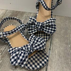Plaid girls sandals